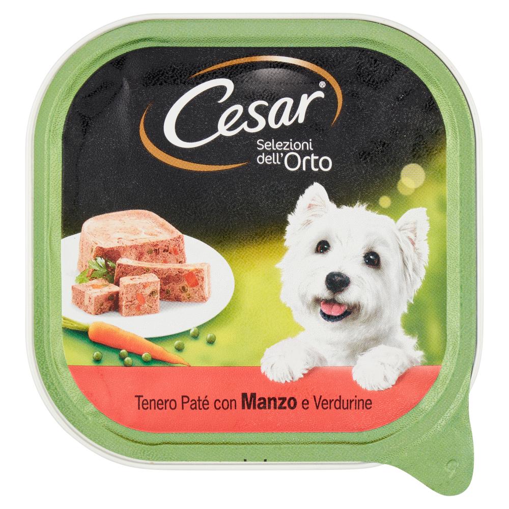 Cesar Selezioni dell'Orto Tenero Paté con Manzo e Verdurine 300 g