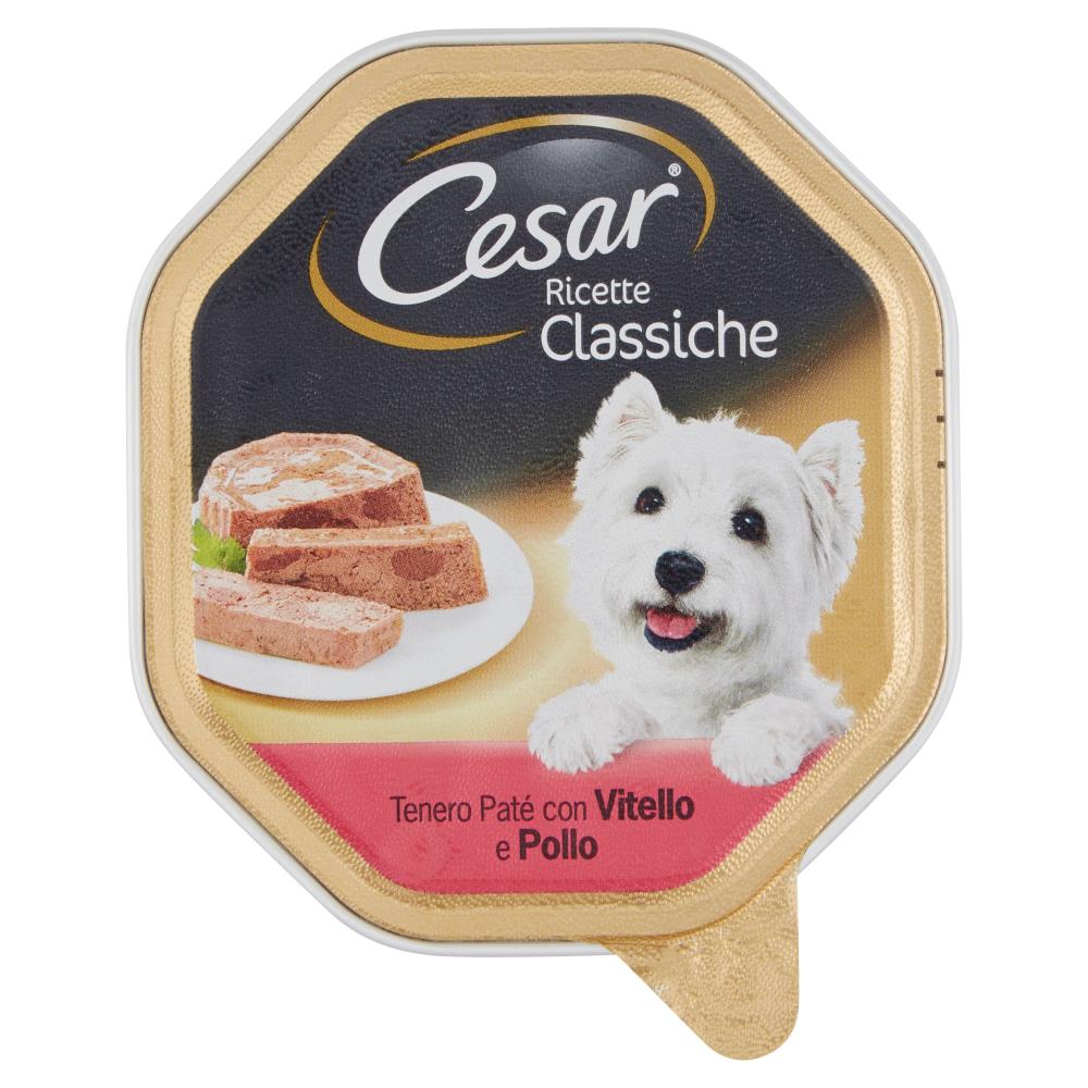 Cesar Ricette Classiche Tenero Paté con Vitello e Pollo 150 g