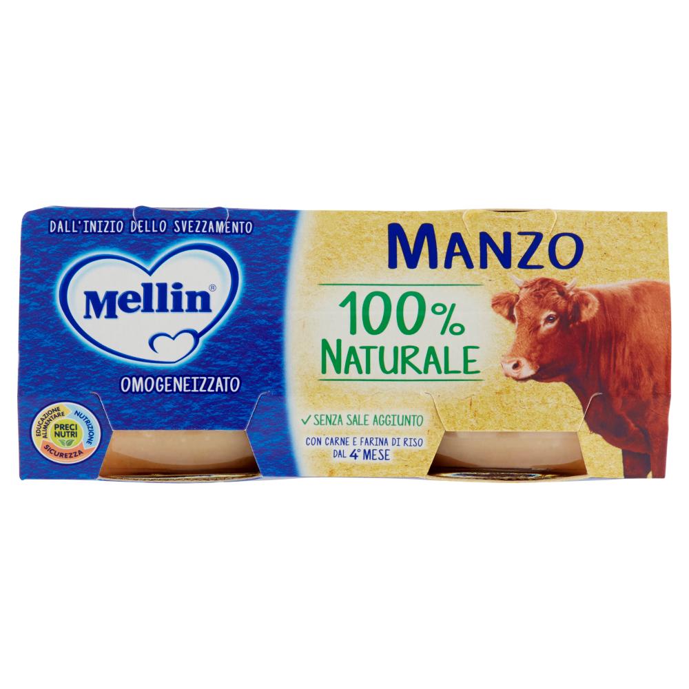 Mellin Manzo 100% Naturale Omogeneizzato 2 x 80 g