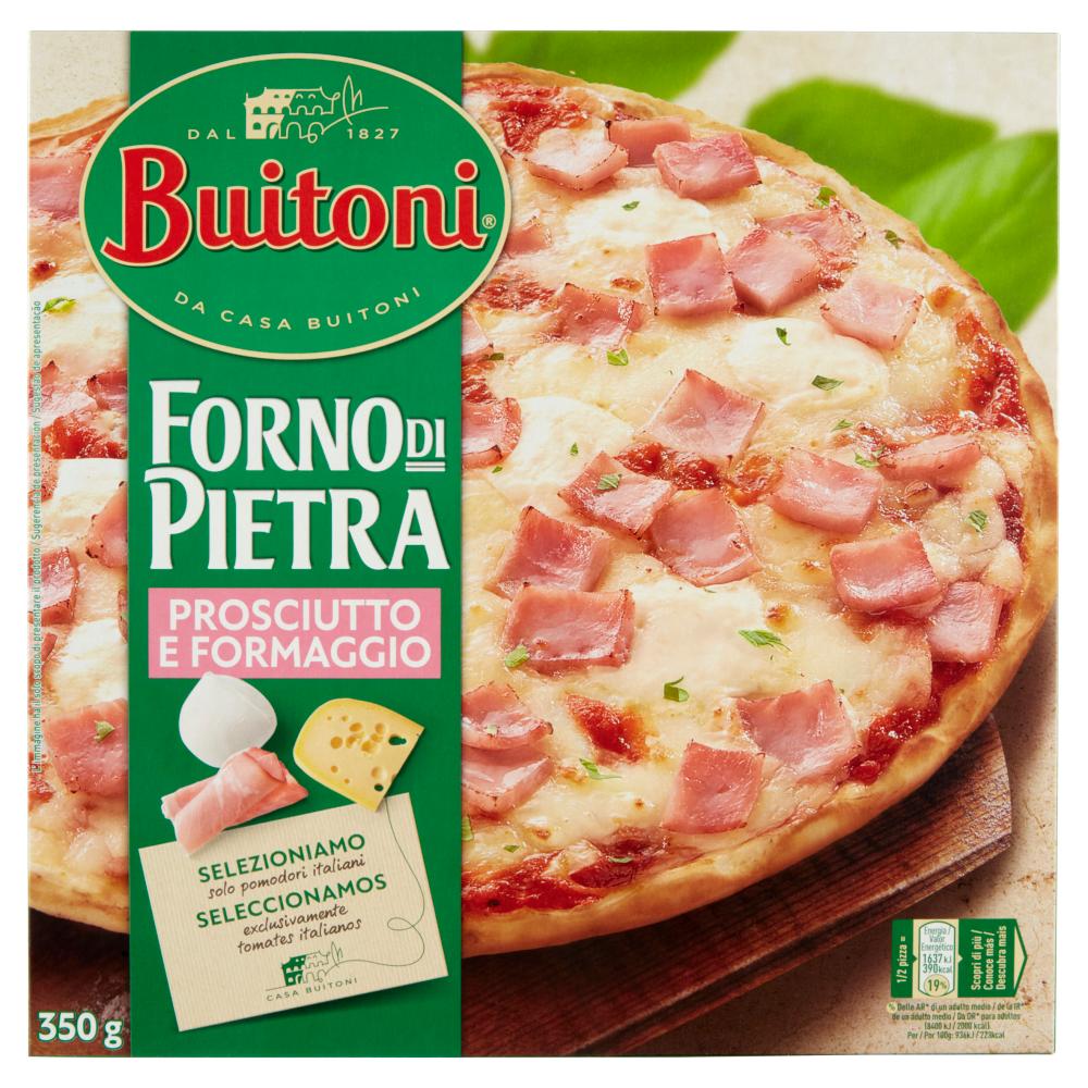 BUITONI FORNO DI PIETRA PROSCIUTTO E FORMAGGIO Pizza surgelata 350g (1 pizza)
