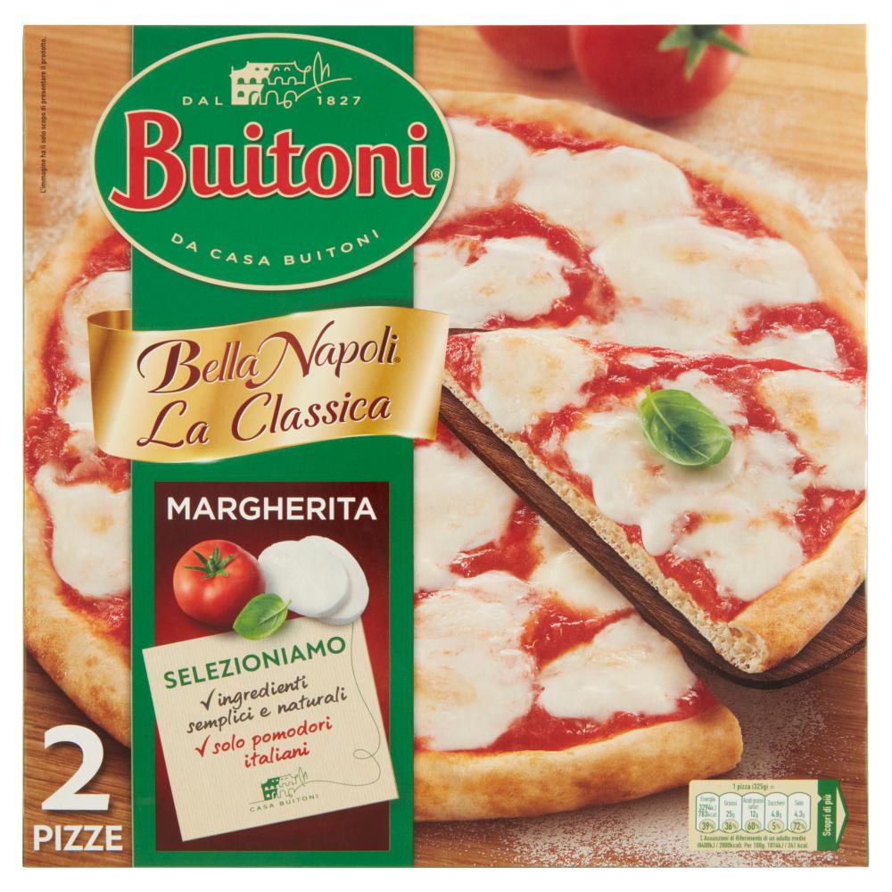 BUITONI BELLA NAPOLI LA CLASSICA MARGHERITA Pizza surgelata 650g (2 pizze)