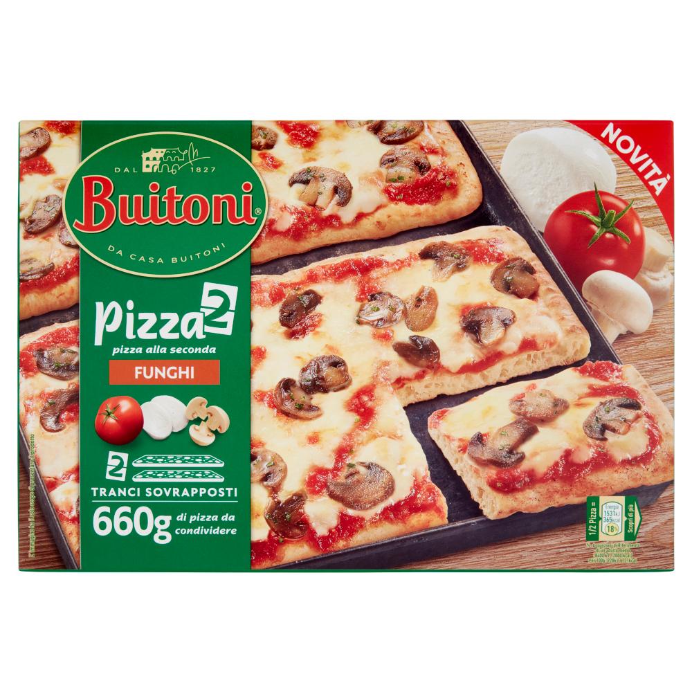 BUITONI PIZZA ALLA SECONDA FUNGHI Pizza surgelata 660g (2 pizze)