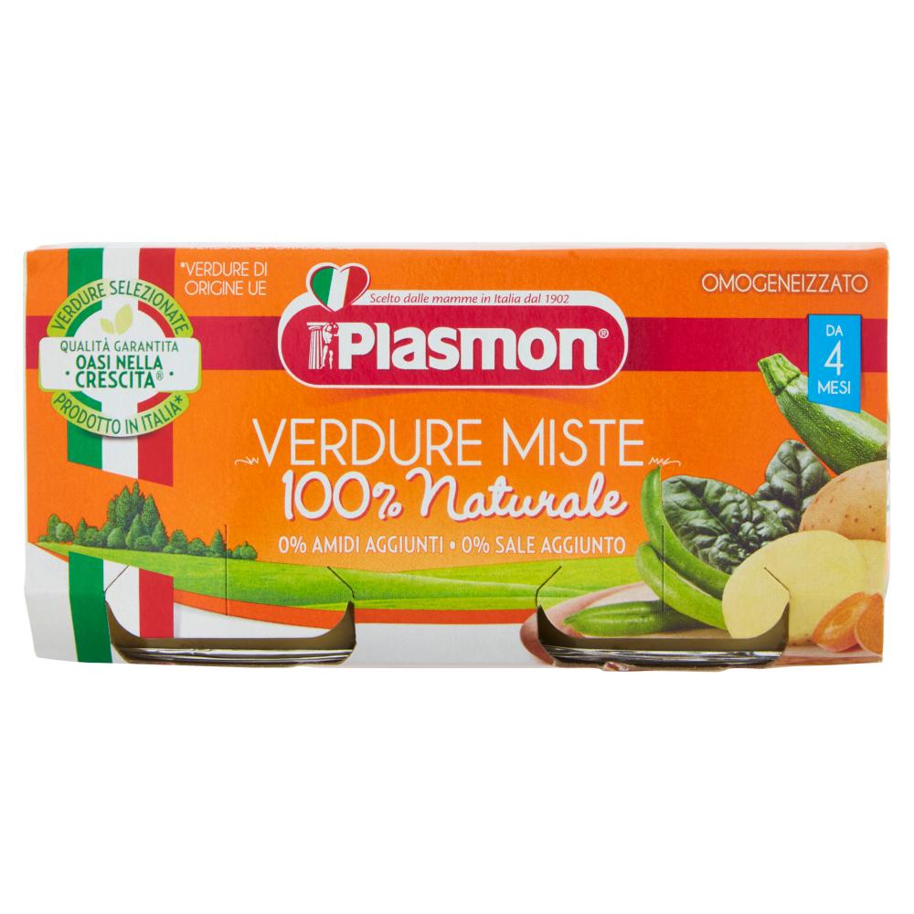 Plasmon Verdure Miste Omogeneizzato 2 x 80 g
