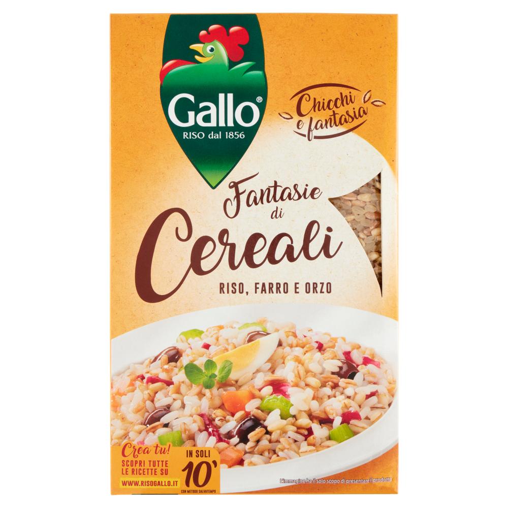 Gallo Chicchi e fantasia Fantasie di Cereali Riso, Farro e Orzo 800 g