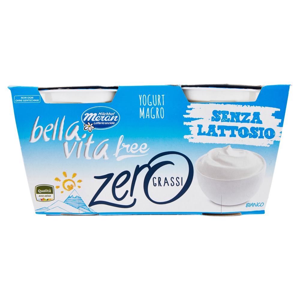 Bella Vita free zero grassi Yogurt Magro bianco 2x125g