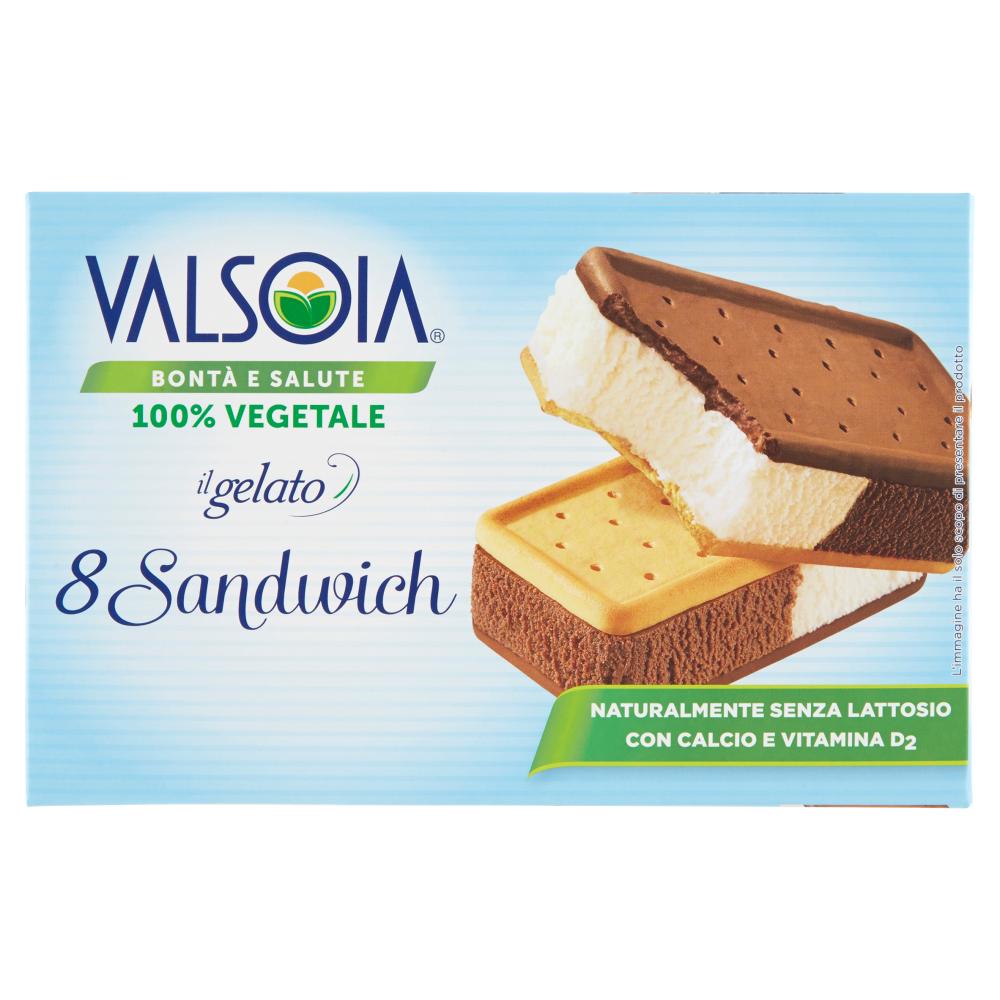 Valsoia Bontà e Salute il gelato 8 Sandwich 8 x 40 g
