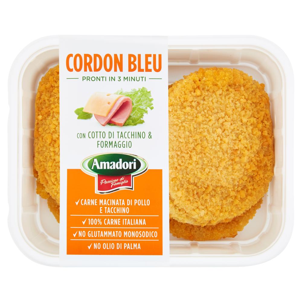 Amadori Cordon Bleu con Cotto di Tacchino & Formaggio 0,500 kg