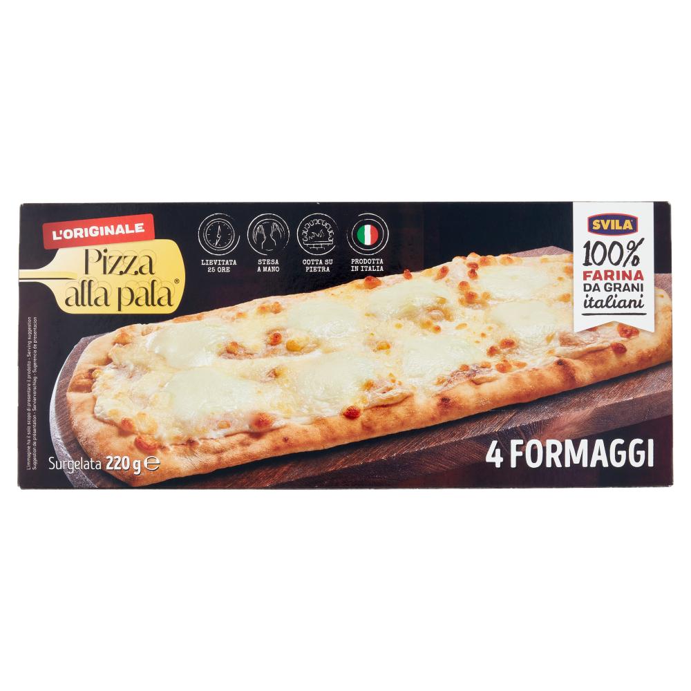 Pizza alla pala 4 Formaggi Surgelata 220 g