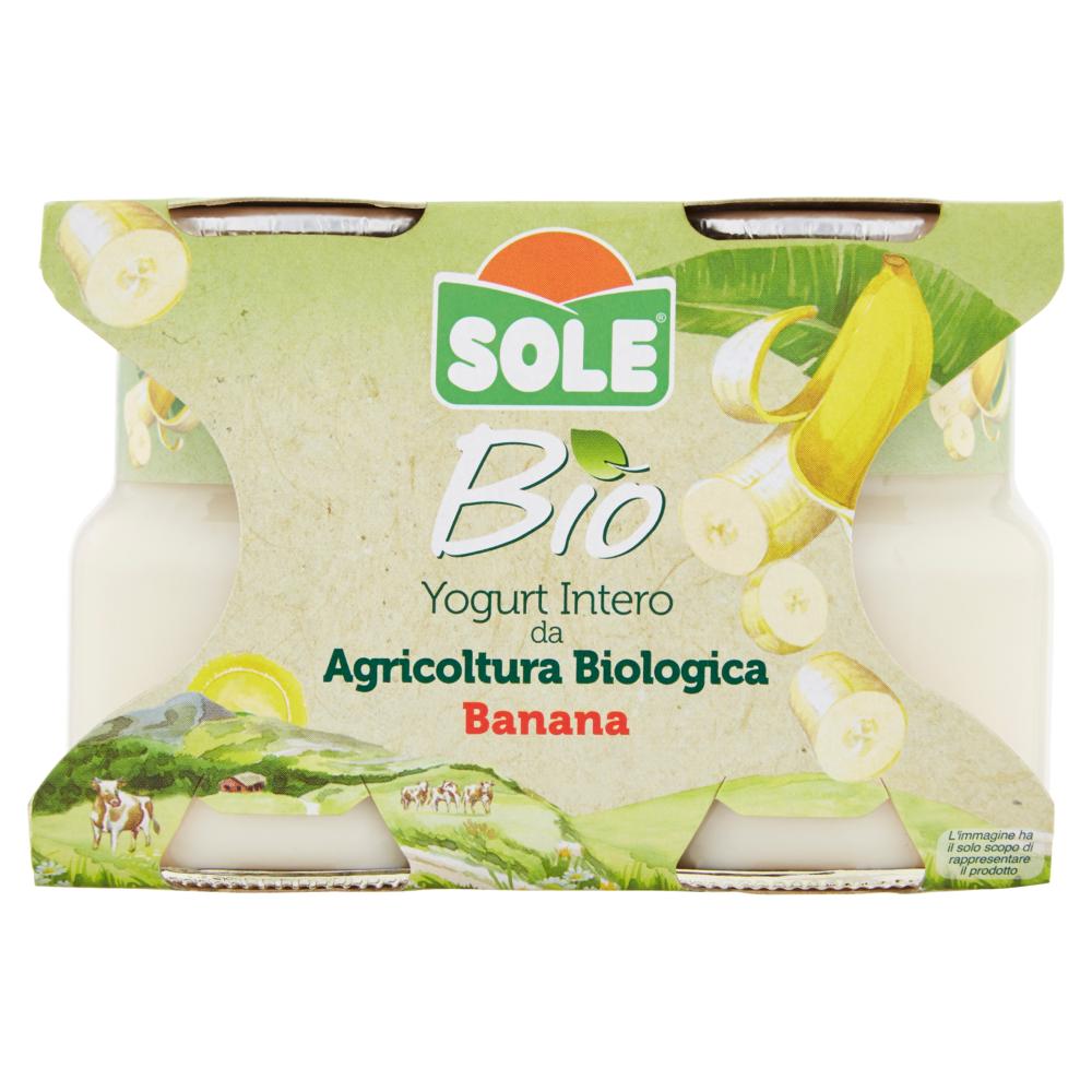 Sole Bio Yogurt Intero da Agricoltura Biologica Banana 2 x 125 g