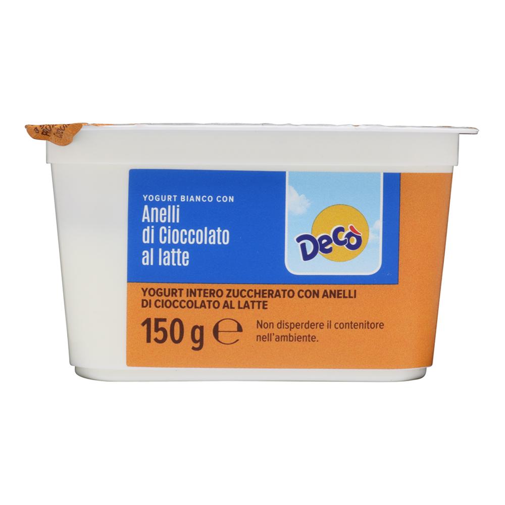 Yogurt bianco con anelli di cioccolato gr 150