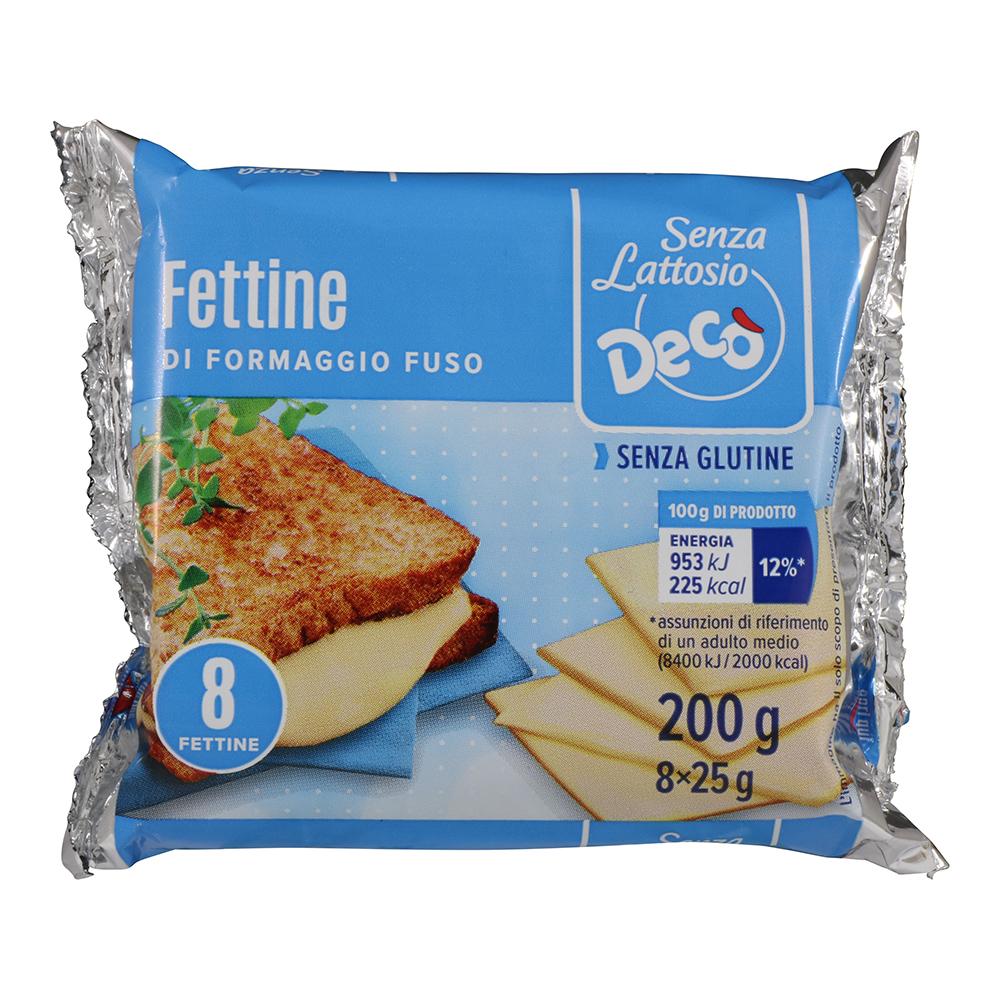 Fettine di formaggio fuso senza lattosio gr 200