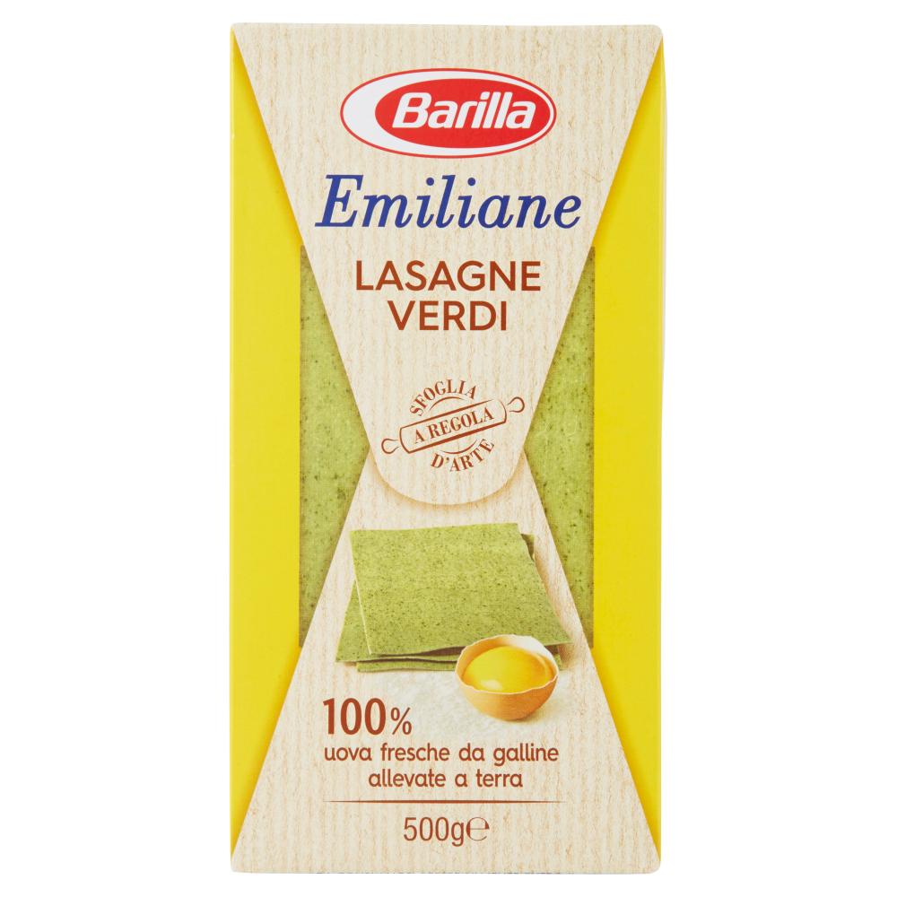 Barilla Emiliane Lasagne Verdi all'Uovo 500 g