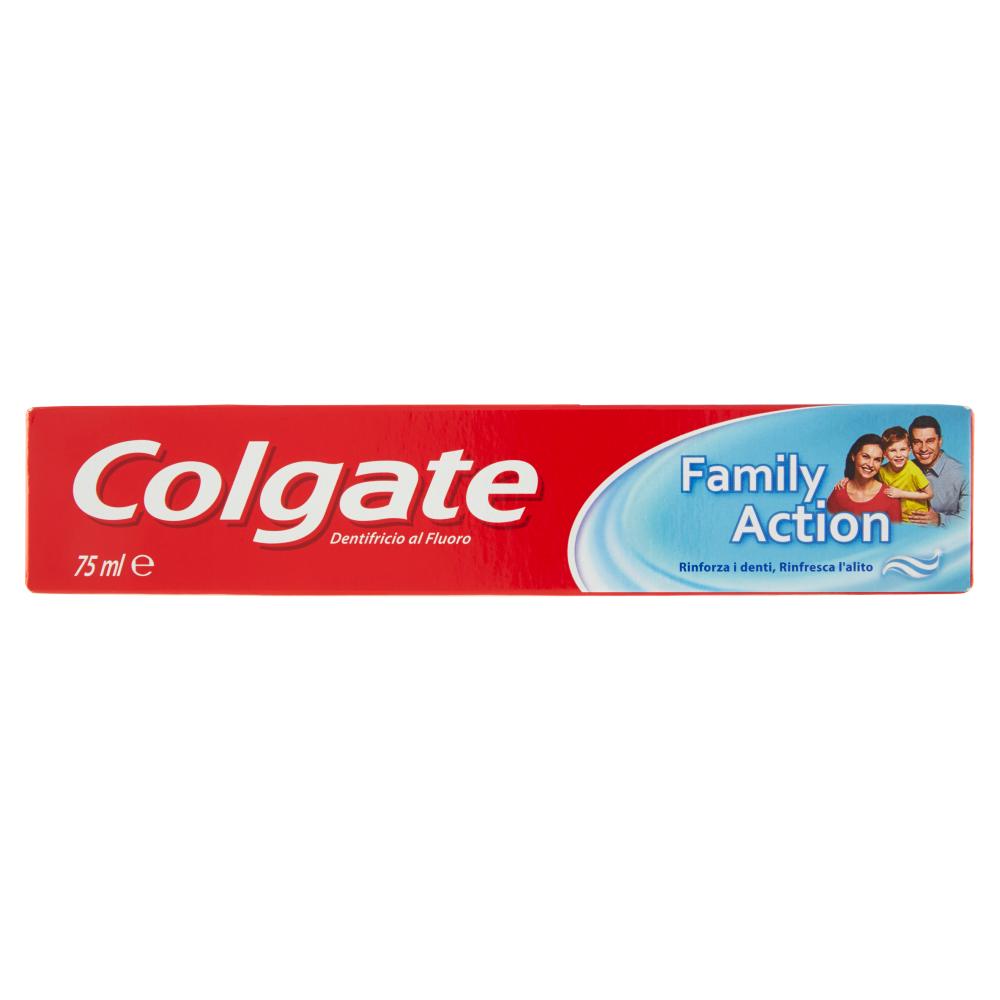 Colgate dentifricio Family Action, rinforza i denti, rinfresca l'alito 75 ml