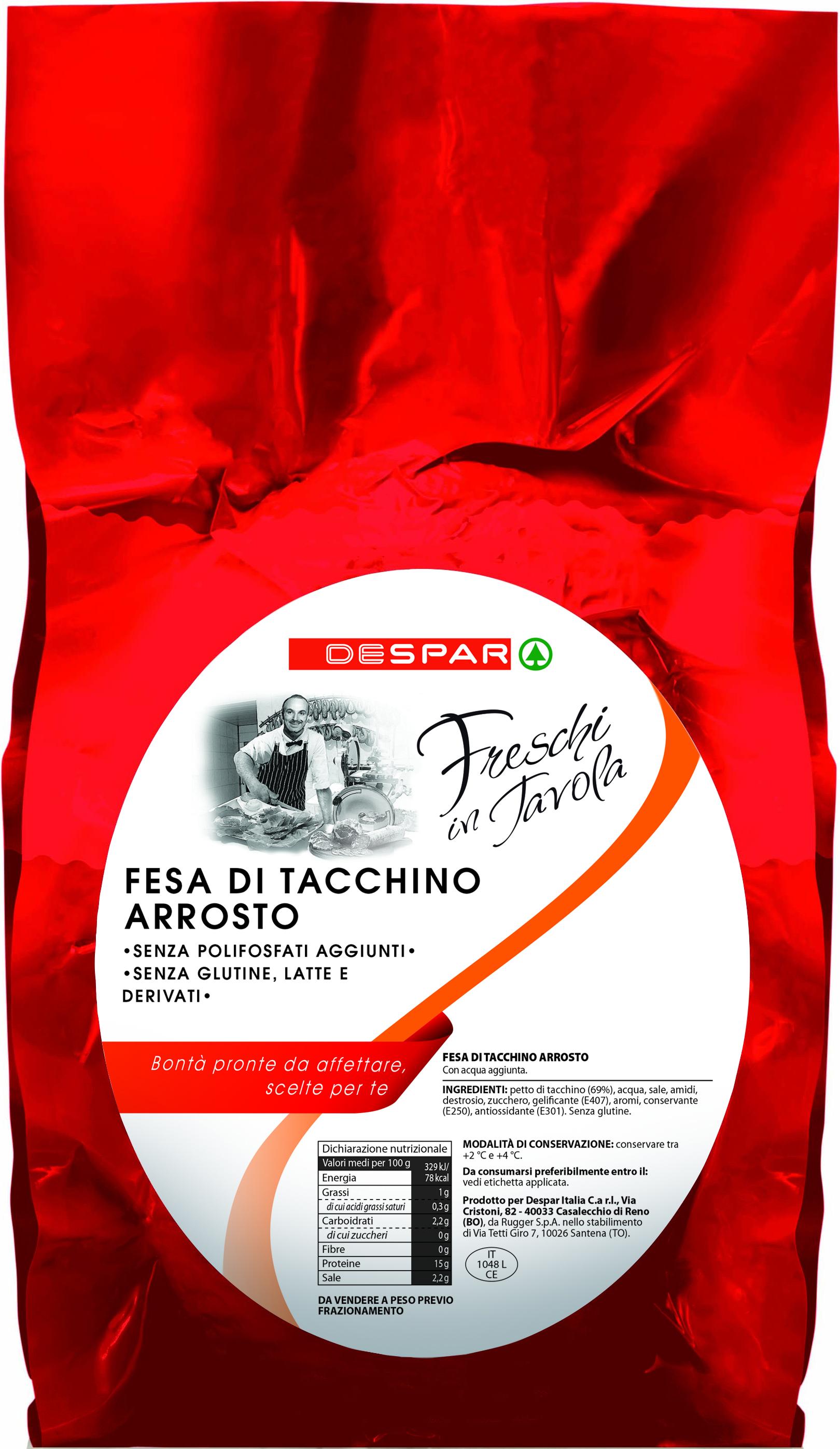 FESA DI TACCHINO ARROSTO DESPAR 4,5 KG