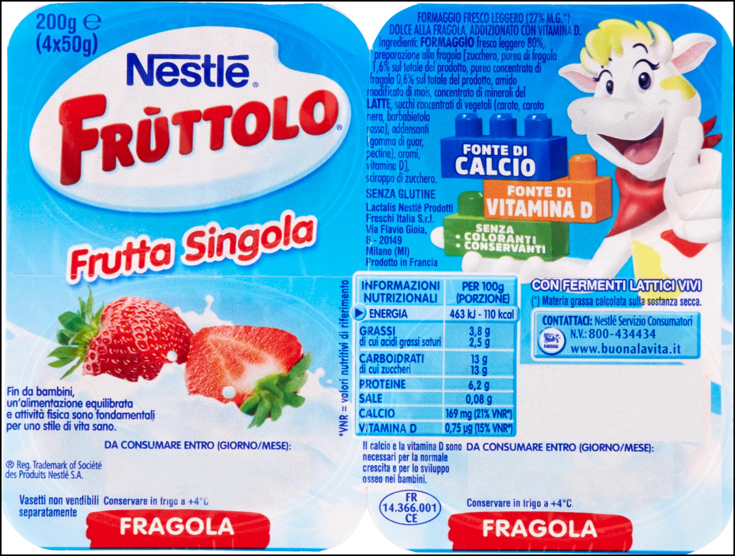 FRUTTOLO 50GX4 FRAGOLA