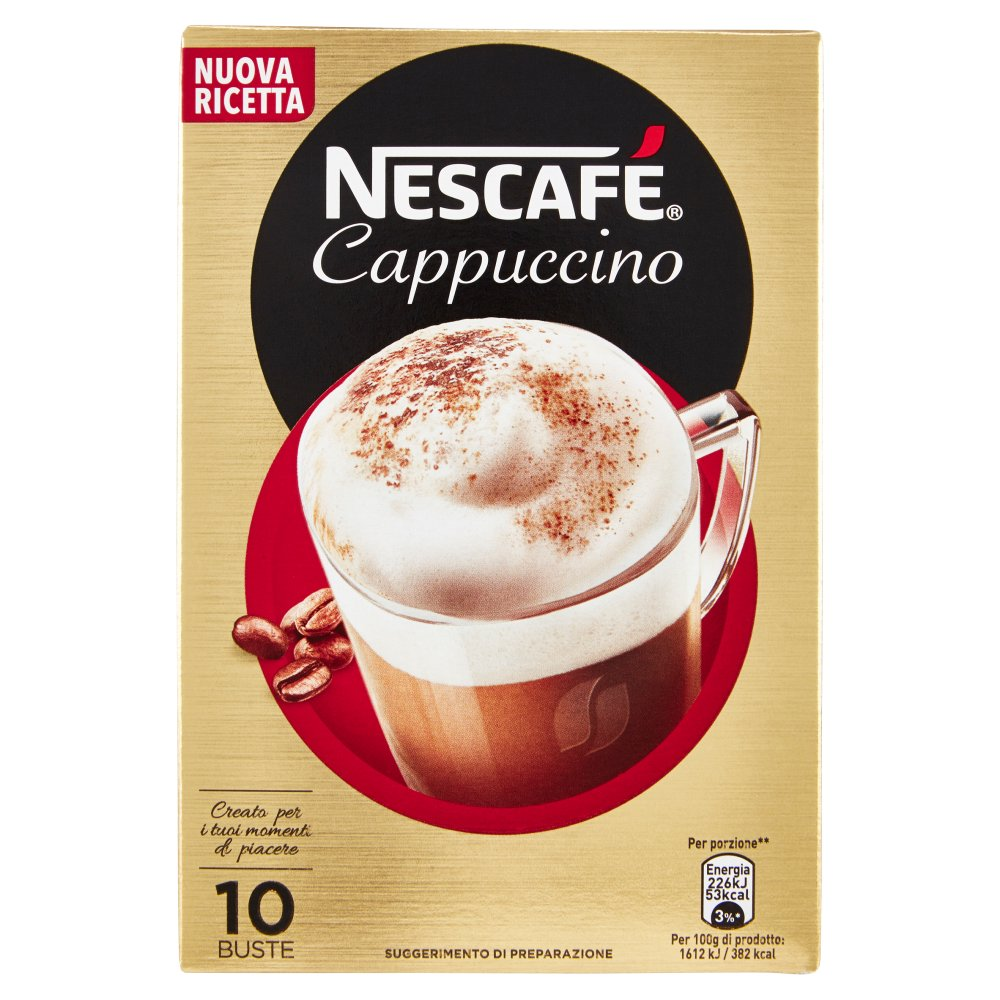 NESCAFÉ GOLD CAPPUCCINO preparato solubile per cappuccino astuccio 10 bustine 140g