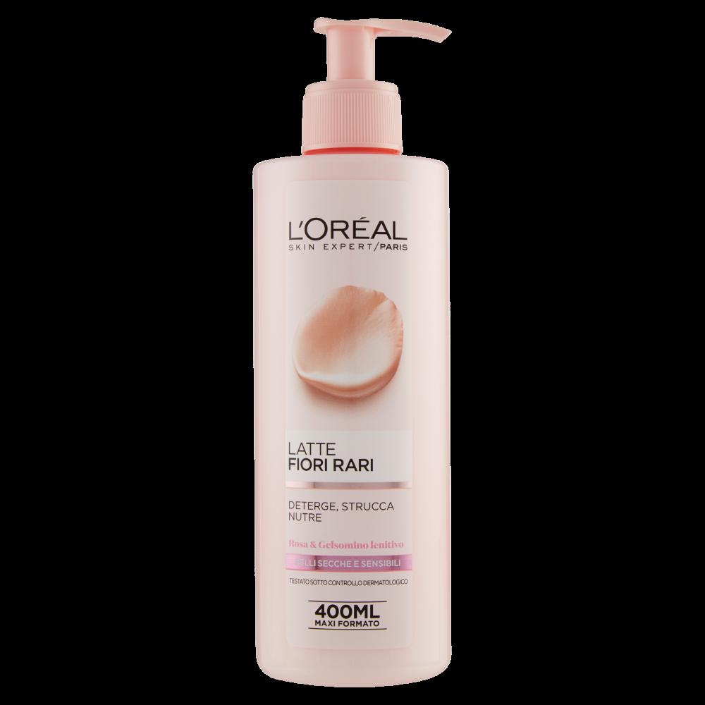 L'Oréal Paris Fiori Rari - Latte struccante per pelli secche e sensibili - 400 ml