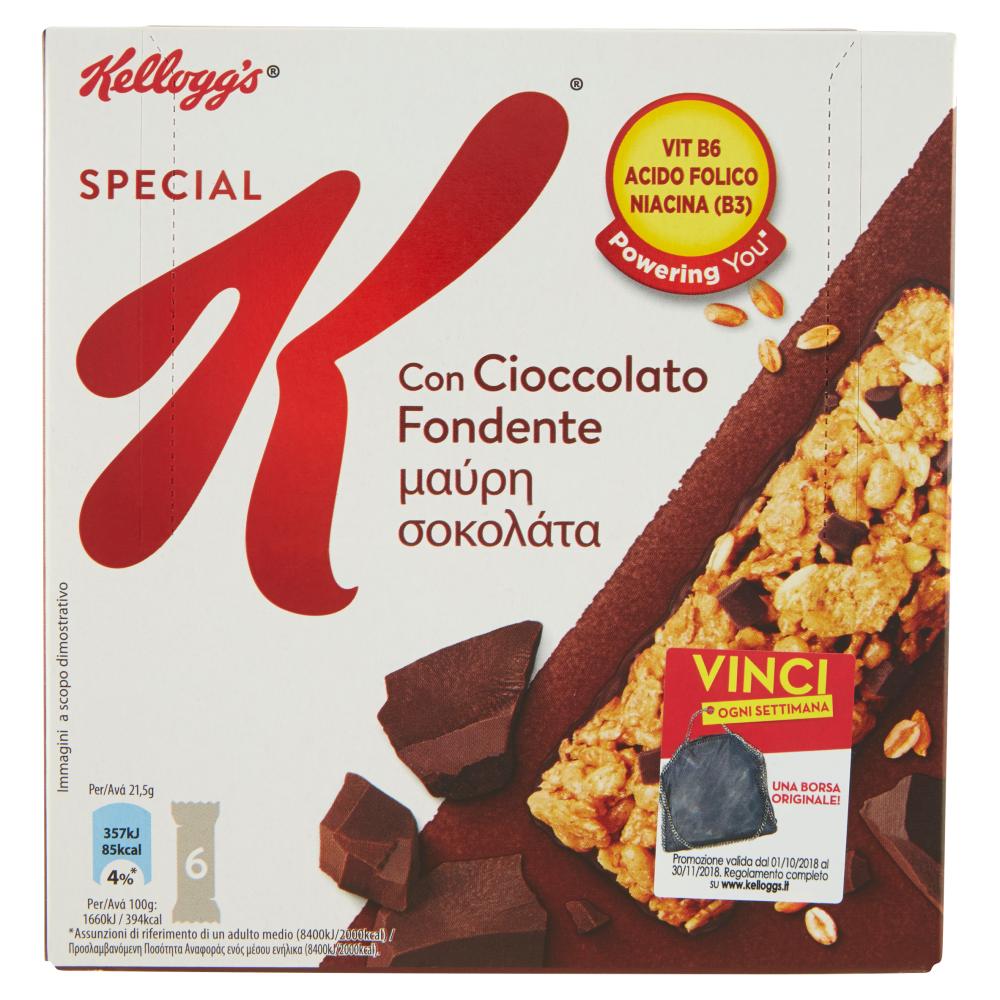 Kellogg's Special K con Cioccolato Fondente 6 x 21,5 g