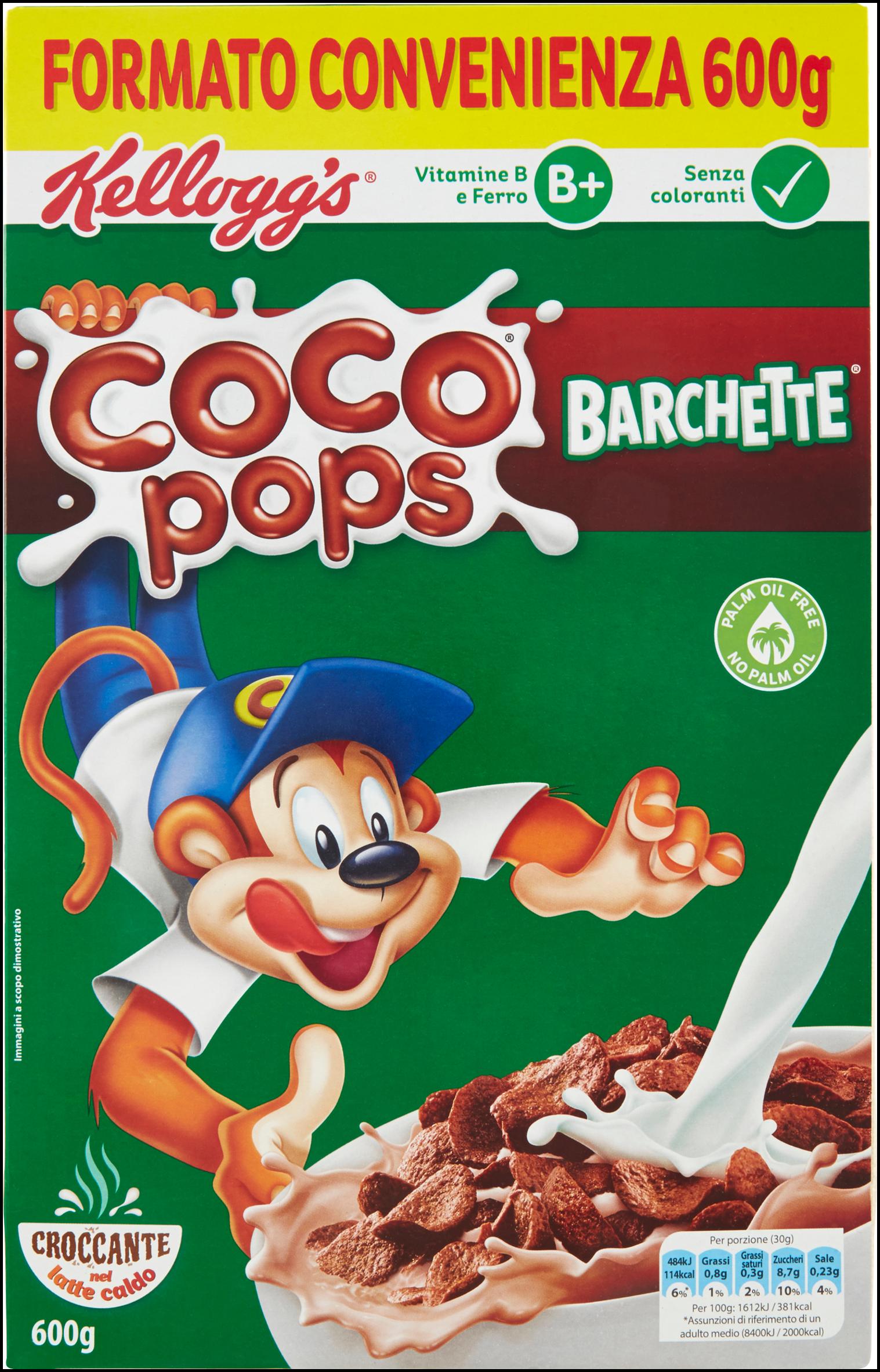 COCO POPS BARCHETTE KELLOGGS G600
