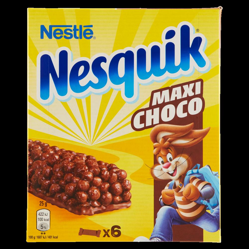 NESQUIK MAXICHOCO Barretta di cereali integrali al cioccolato 6 pezzi