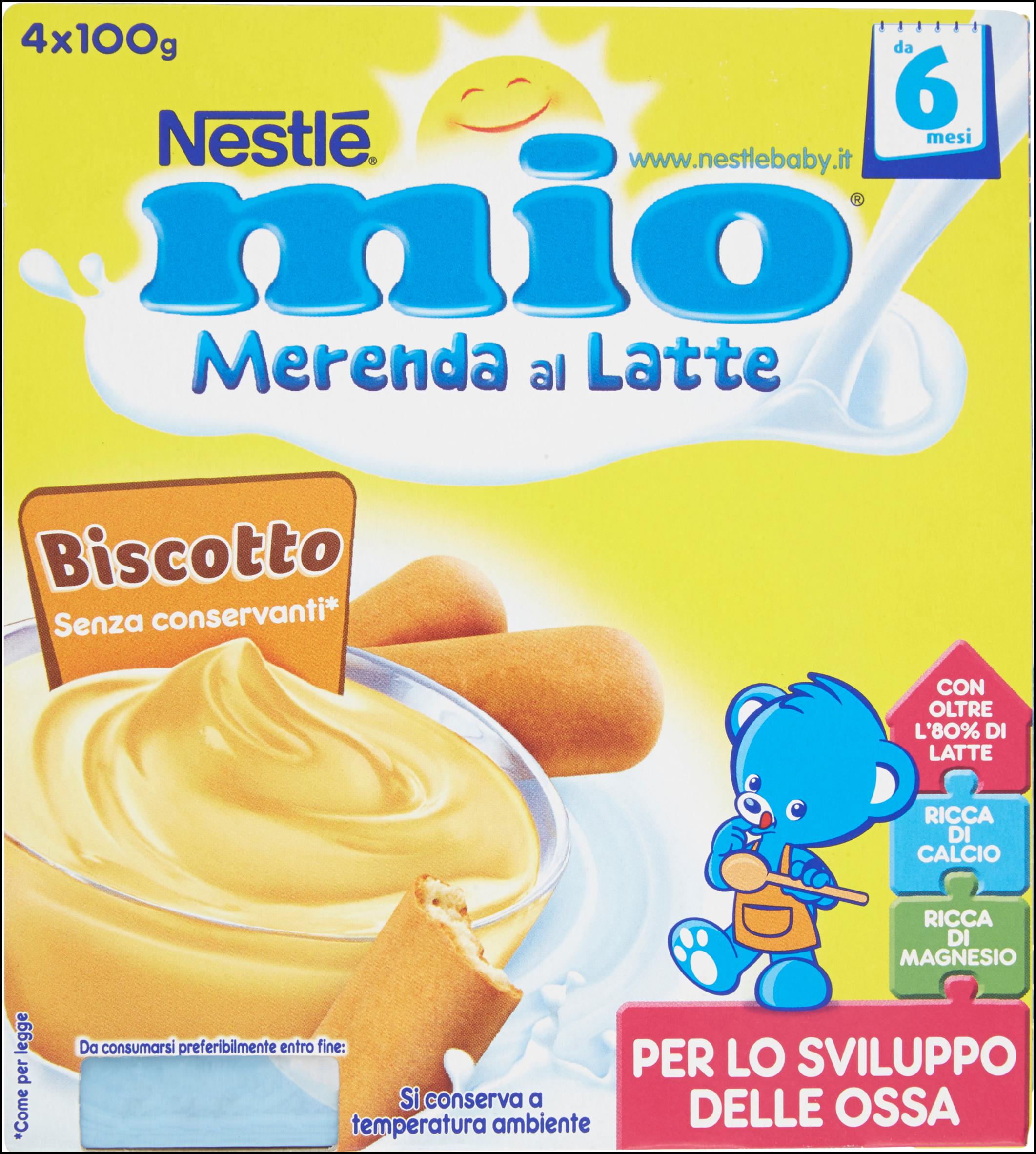 OMO MERENDA  LATTE BISCOTTO  MIO  x4  10