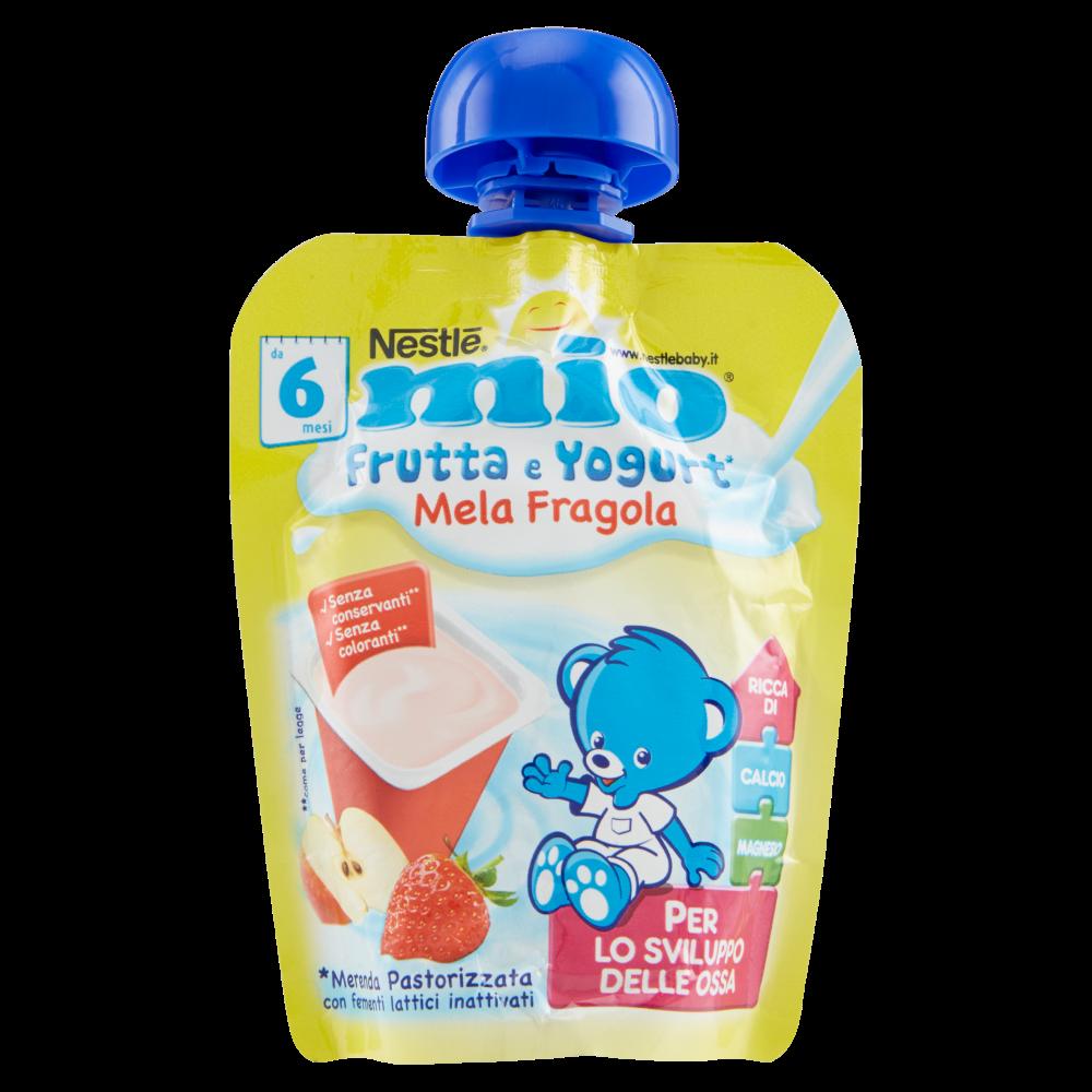 NESTLÉ MIO Yogurt Mela Fragola Merenda da spremere pouch 90ml