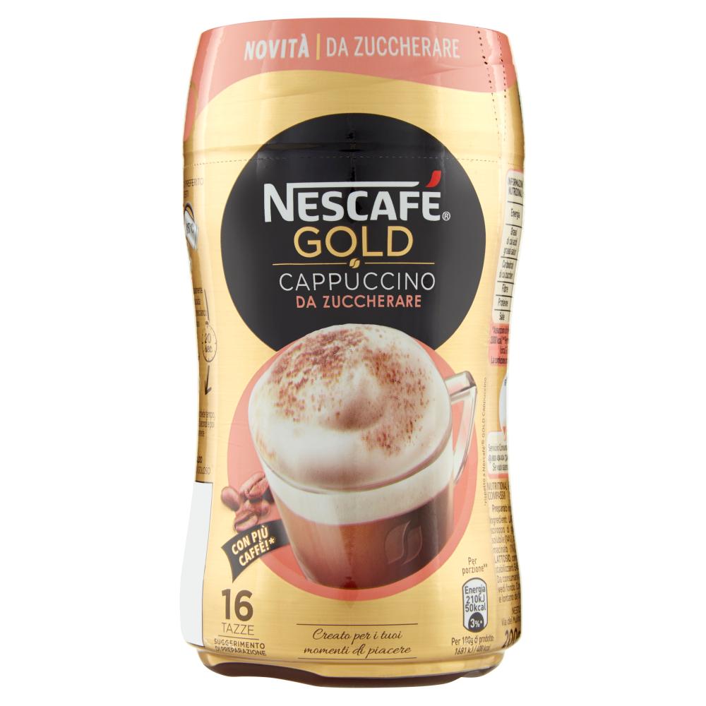 NESCAFÉ GOLD CAPPUCCINO DA ZUCCHERARE Preparato solubile per cappuccino barattolo 200g
