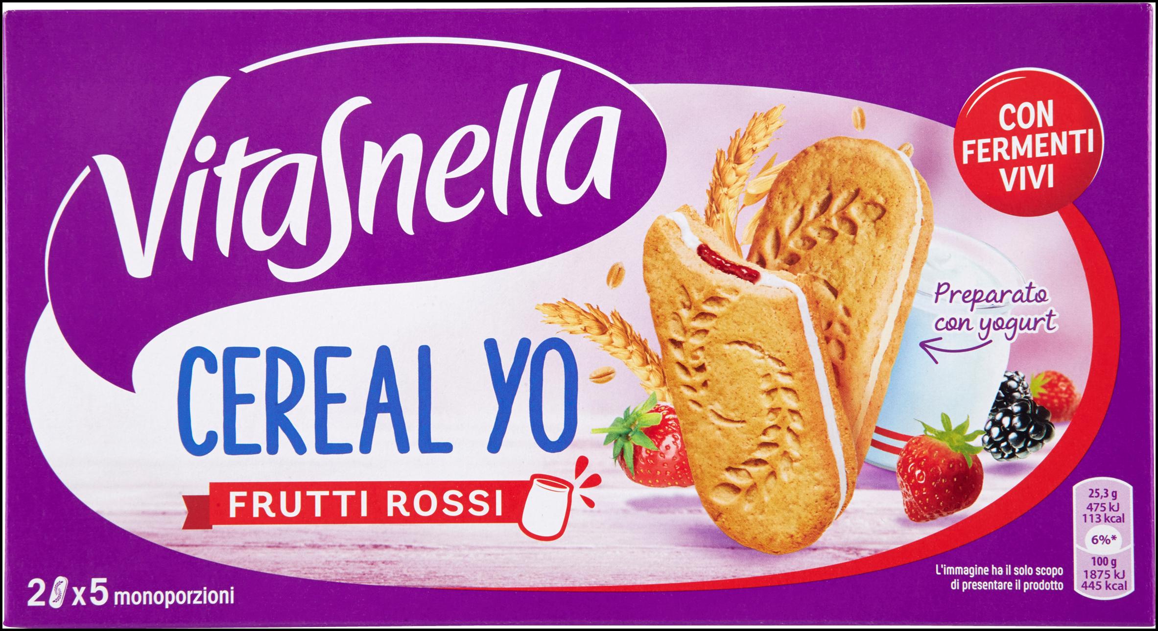 CEREAL YO VITASNELLA 253G FRUTTI ROSSI