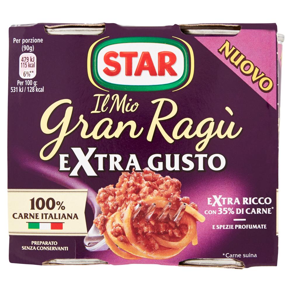 Star Il Mio Gran Ragù Extra Gusto 2 x 180 g