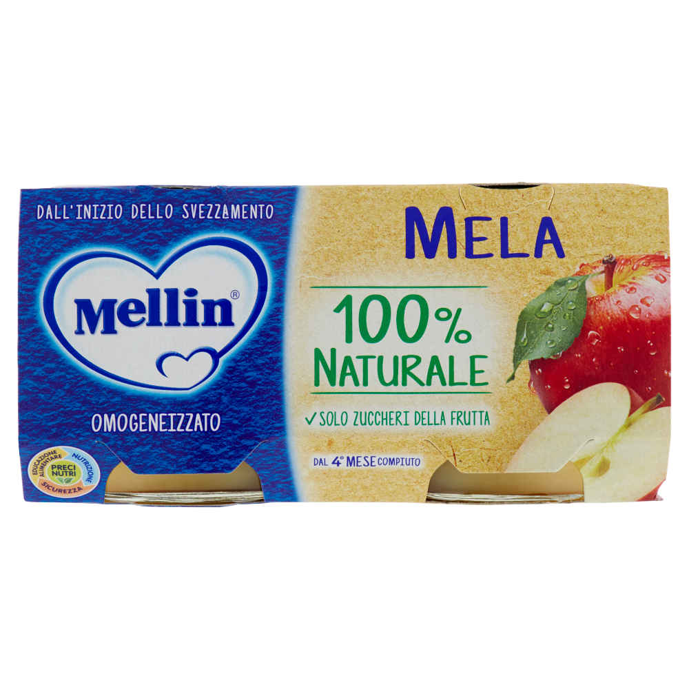 Mellin Mela 100% Naturale Omogeneizzato 2 x 100 g