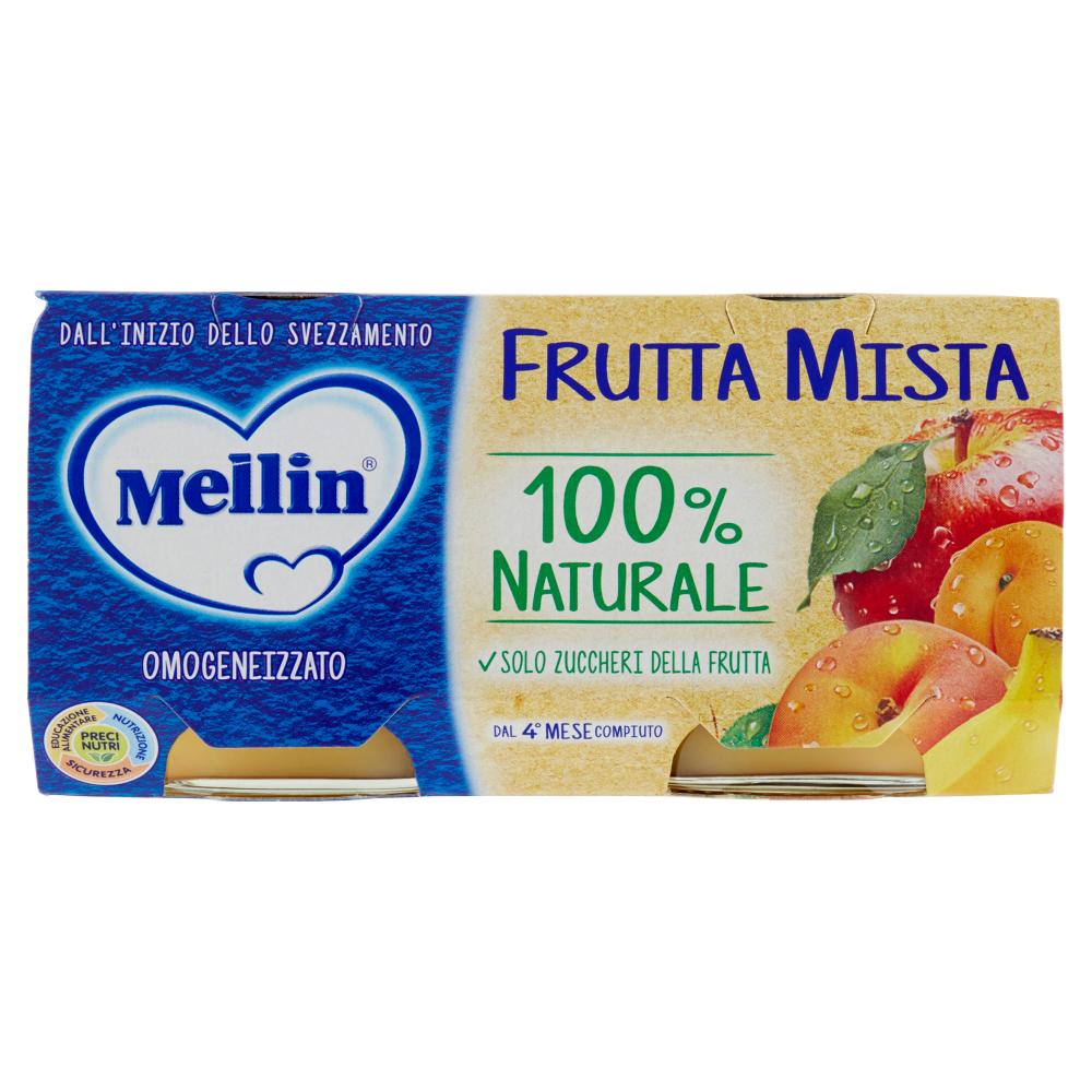 Mellin Frutta Mista 100% Naturale Omogeneizzato 2 x 100 g