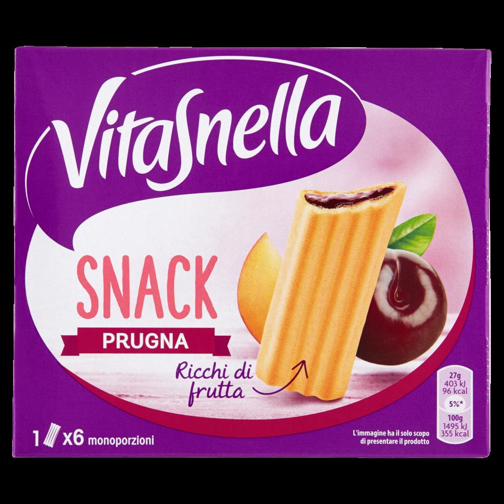 Vitasnella Snack Prugna 6 x 27 g