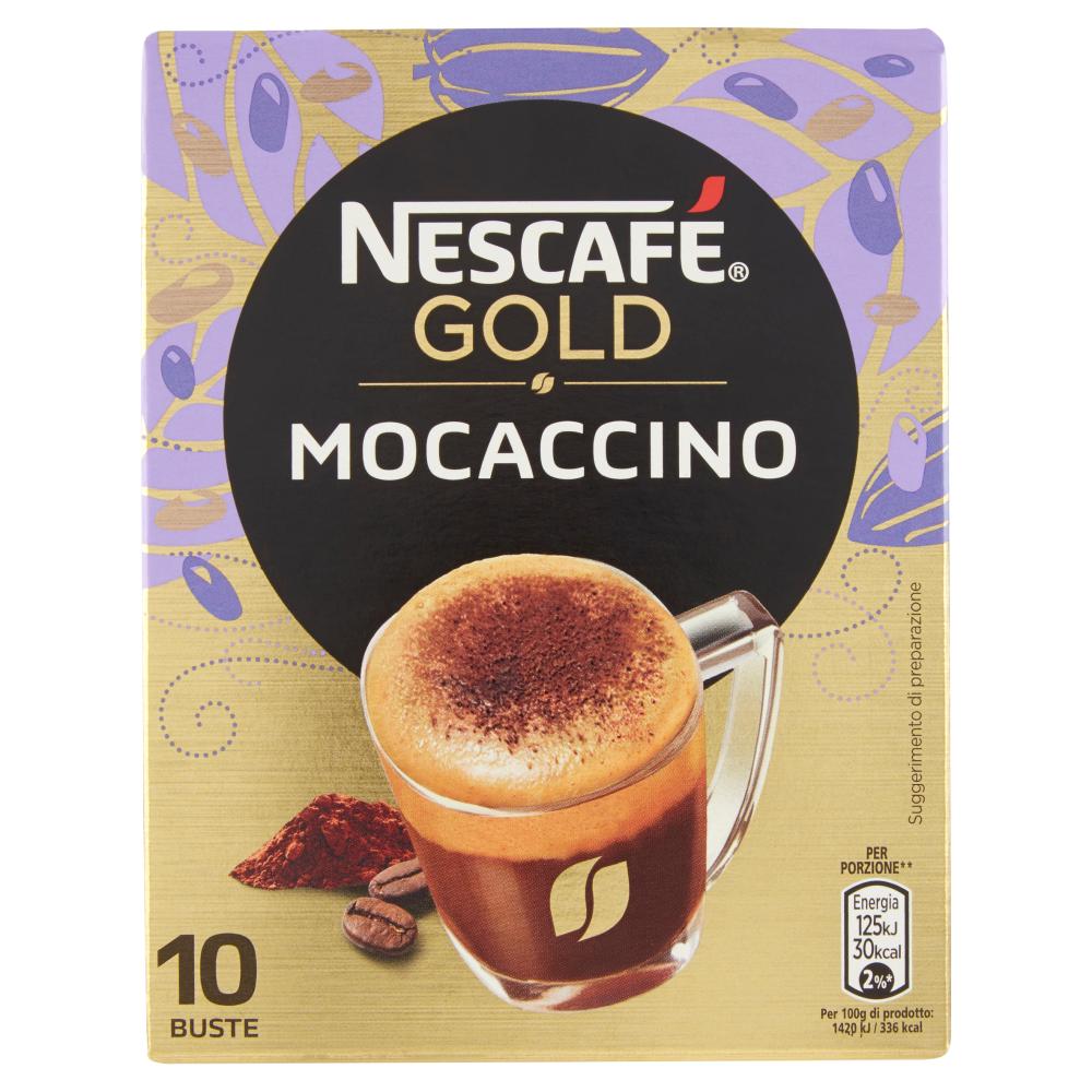 NESCAFÉ GOLD MOCACCINO preparato solubile per caffè al cacao astuccio 10 bustine 88g
