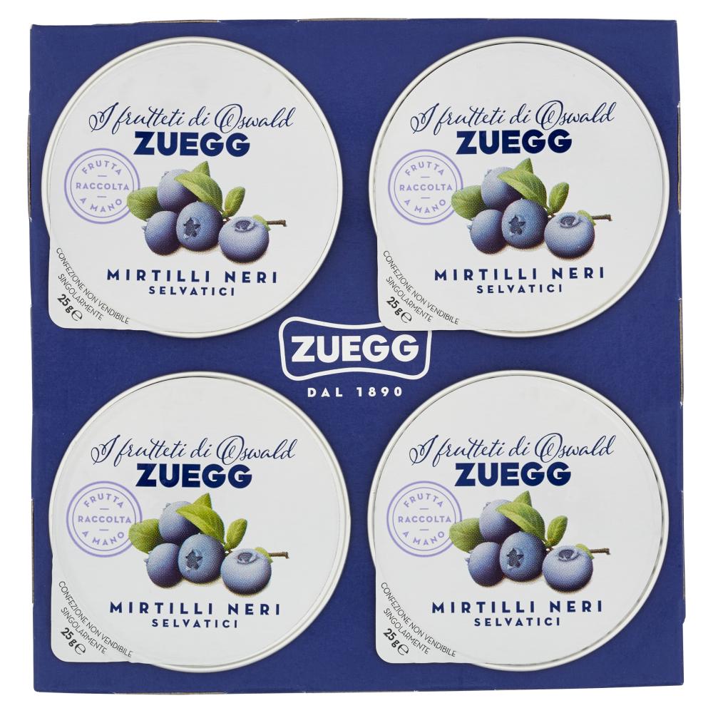 Zuegg I frutteti di Oswald Zuegg Mirtilli Neri Selvatici 4 x 25 g