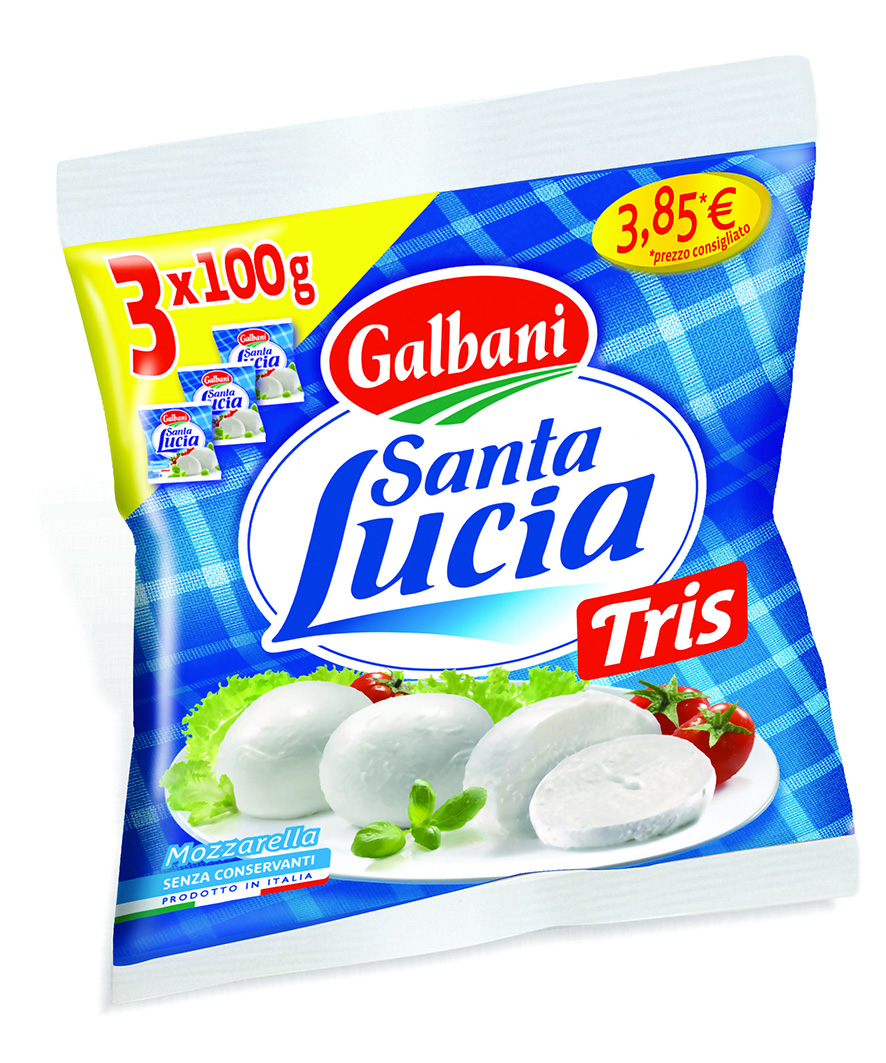 MOZZARELLA SANTA LUCIA 100GX3