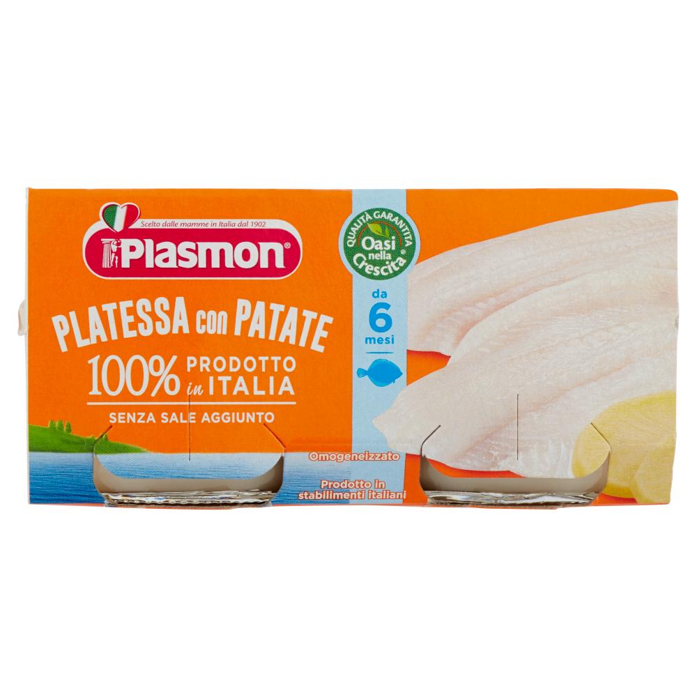 Plasmon Platessa con Patate Omogeneizzato 2 x 80 g