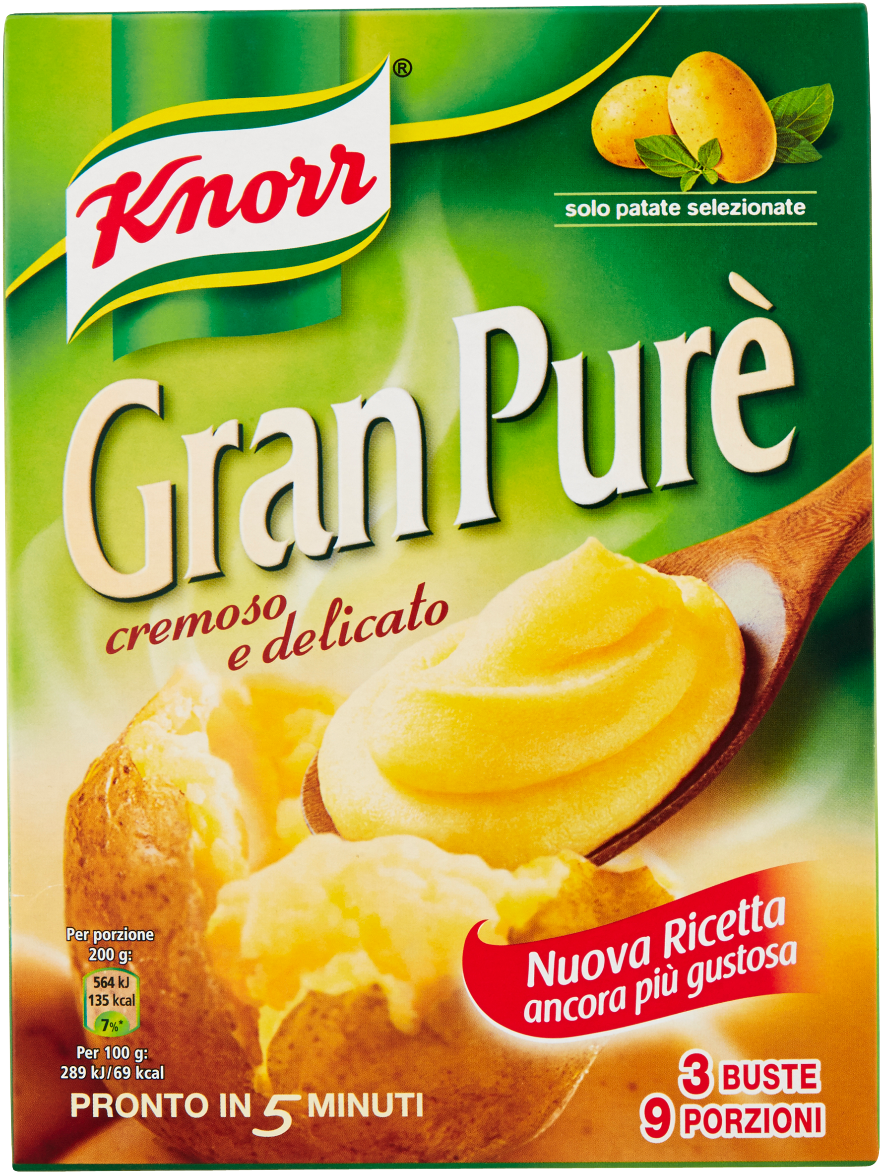 PURE' PATATE KNORR 225G 3 PEZZI