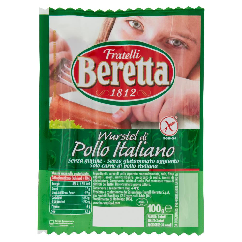 Fratelli Beretta Wurstel di pollo italiano 100 g