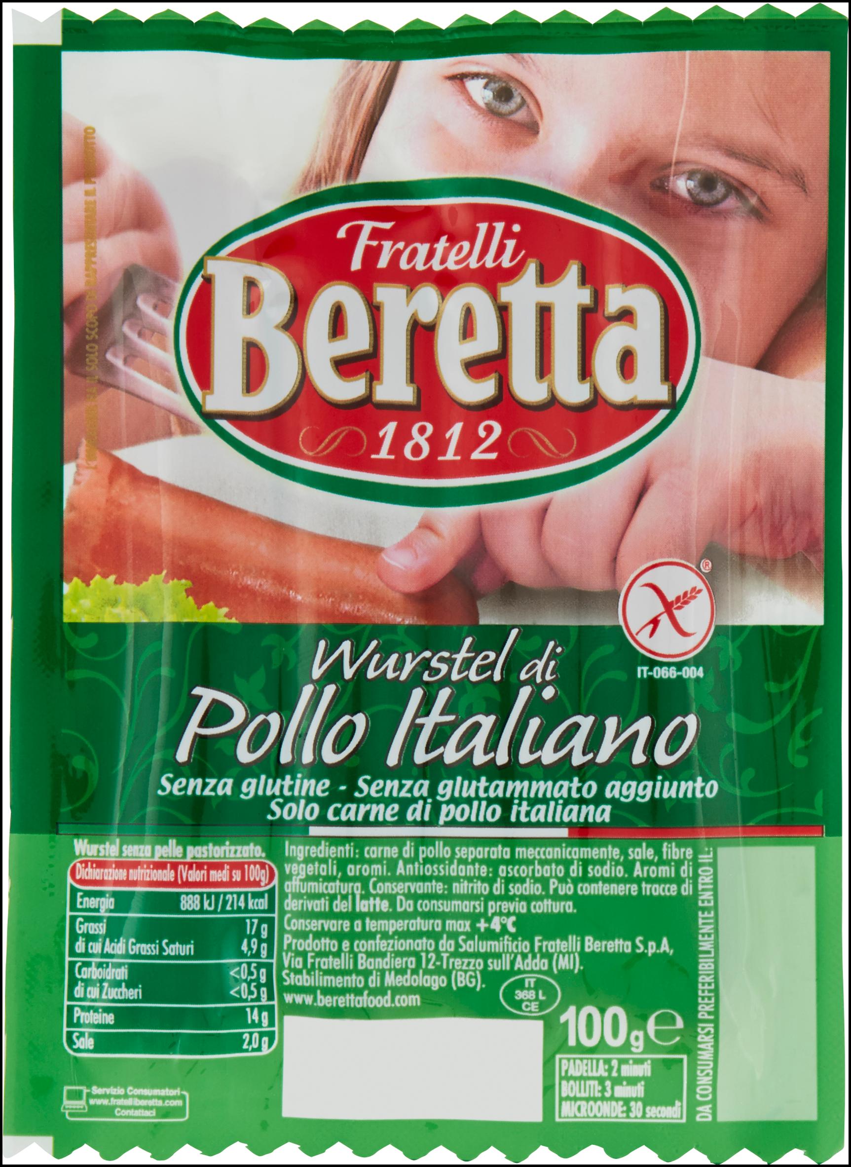WURSTEL BERETTA POLLO ITALIANO 100G