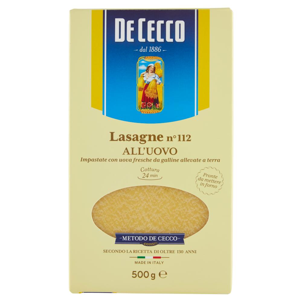 De Cecco Lasagne n° 112 all'Uovo 500 g