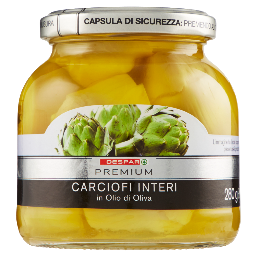 Despar Premium Carciofi Interi in Olio di Oliva 280 g
