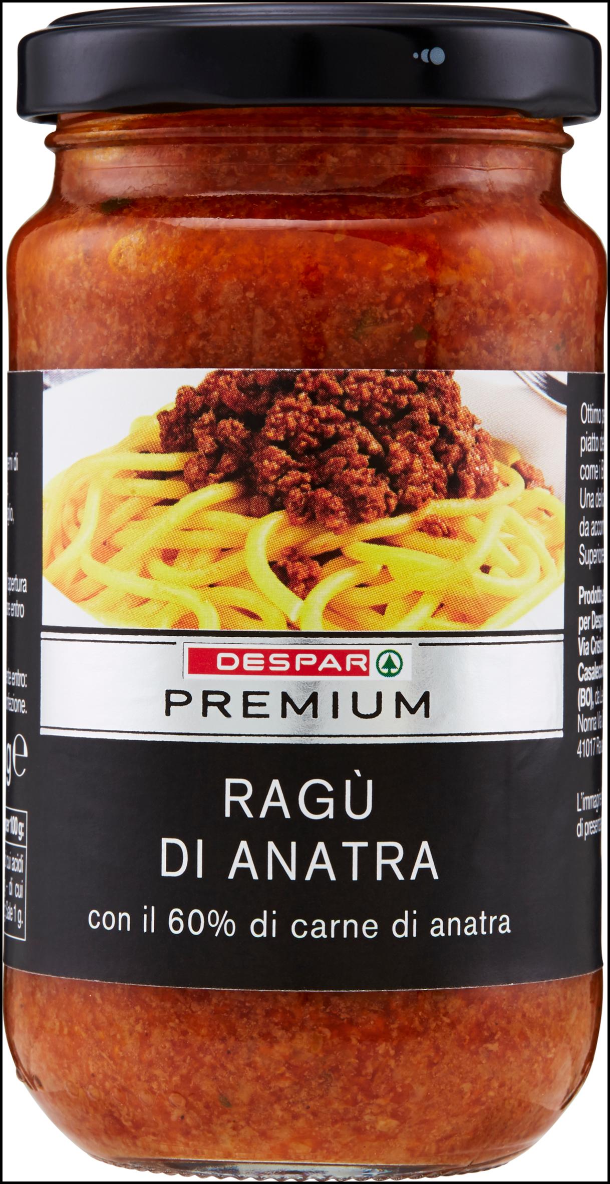 RAGU' DI ANATRA PREMIUM 190G