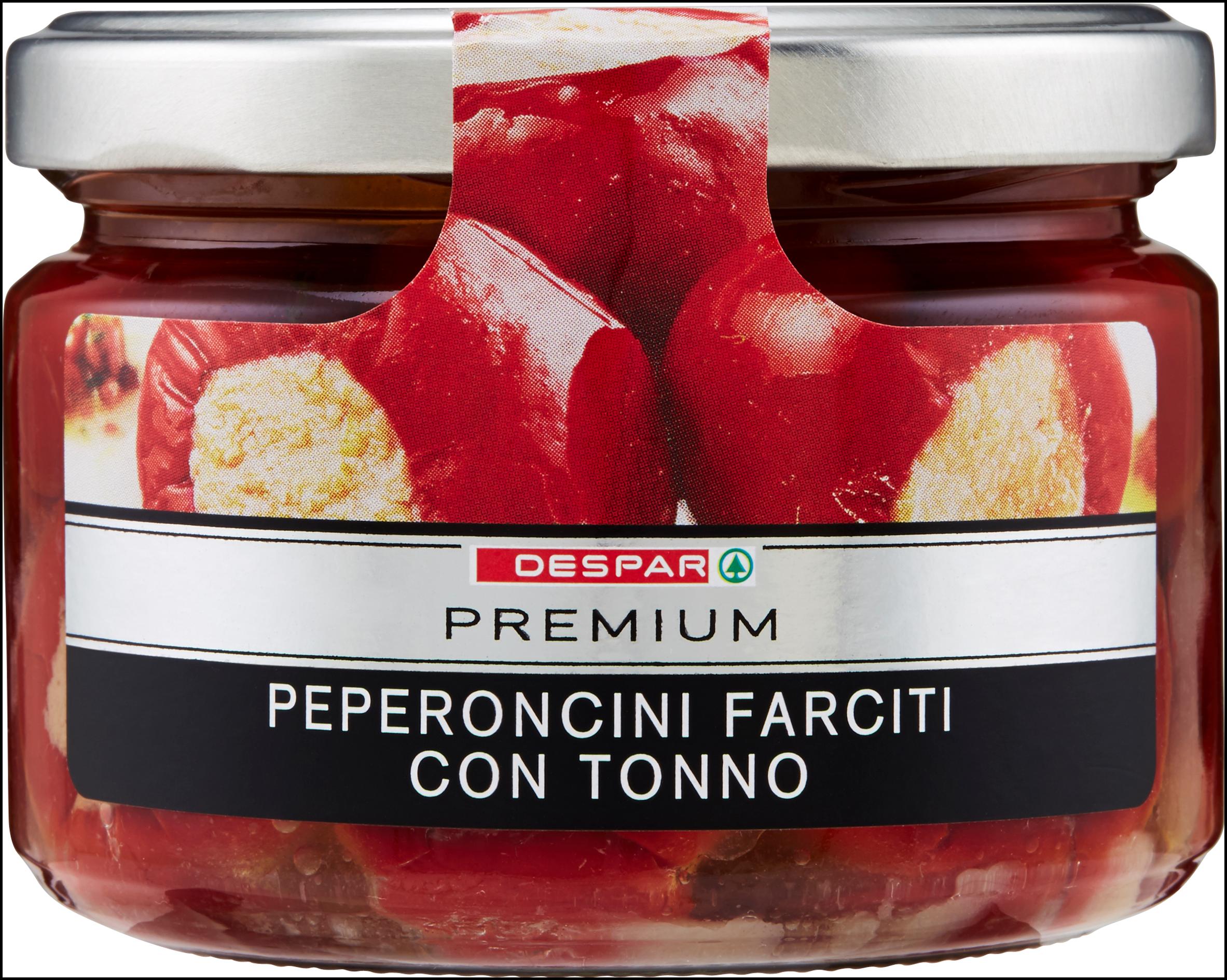 PEPERONCINI FARCITI PREMIUM 240G C/TONNO