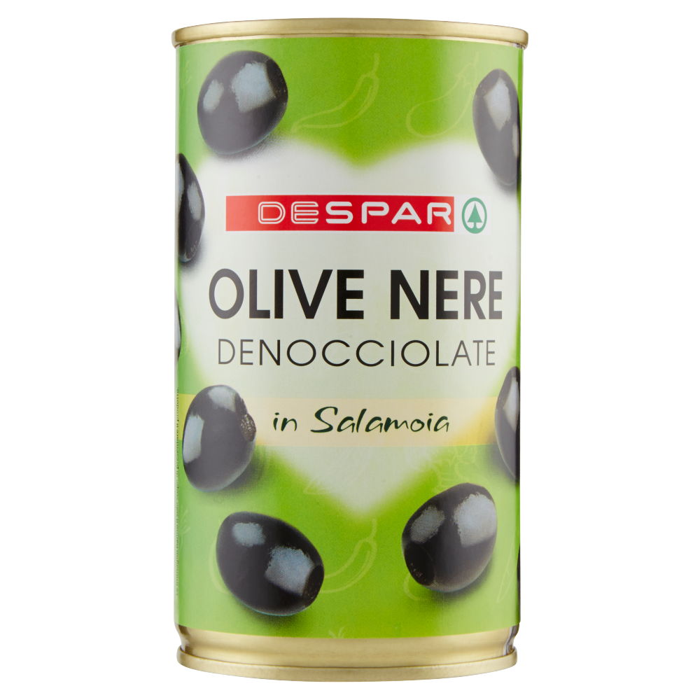 Despar Olive Nere Denocciolate in Salamoia 350 g