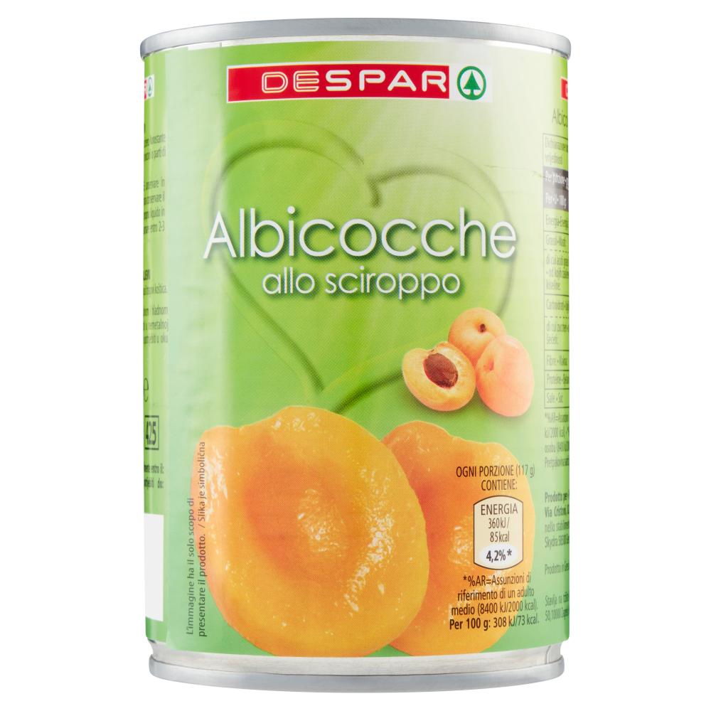 ALBICOCCHE SCIROPPATE DESPAR 420G