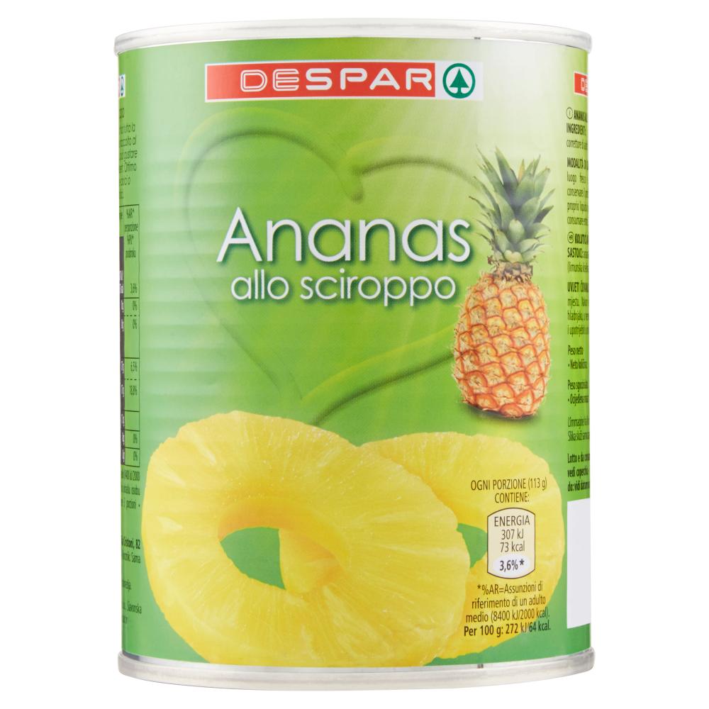 Despar Ananas allo sciroppo 565 g