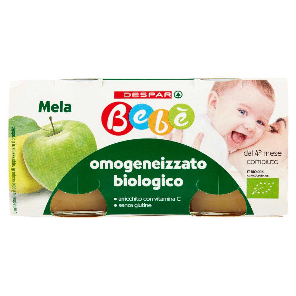 Despar Bebè omogeneizzato biologico Mela 2 x 100 g