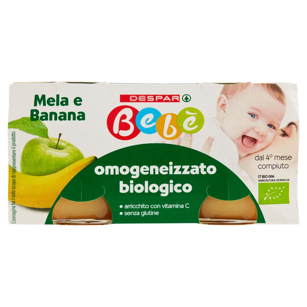 Despar Bebè Mela e Banana omogeneizzato biologico 2 x 100 g
