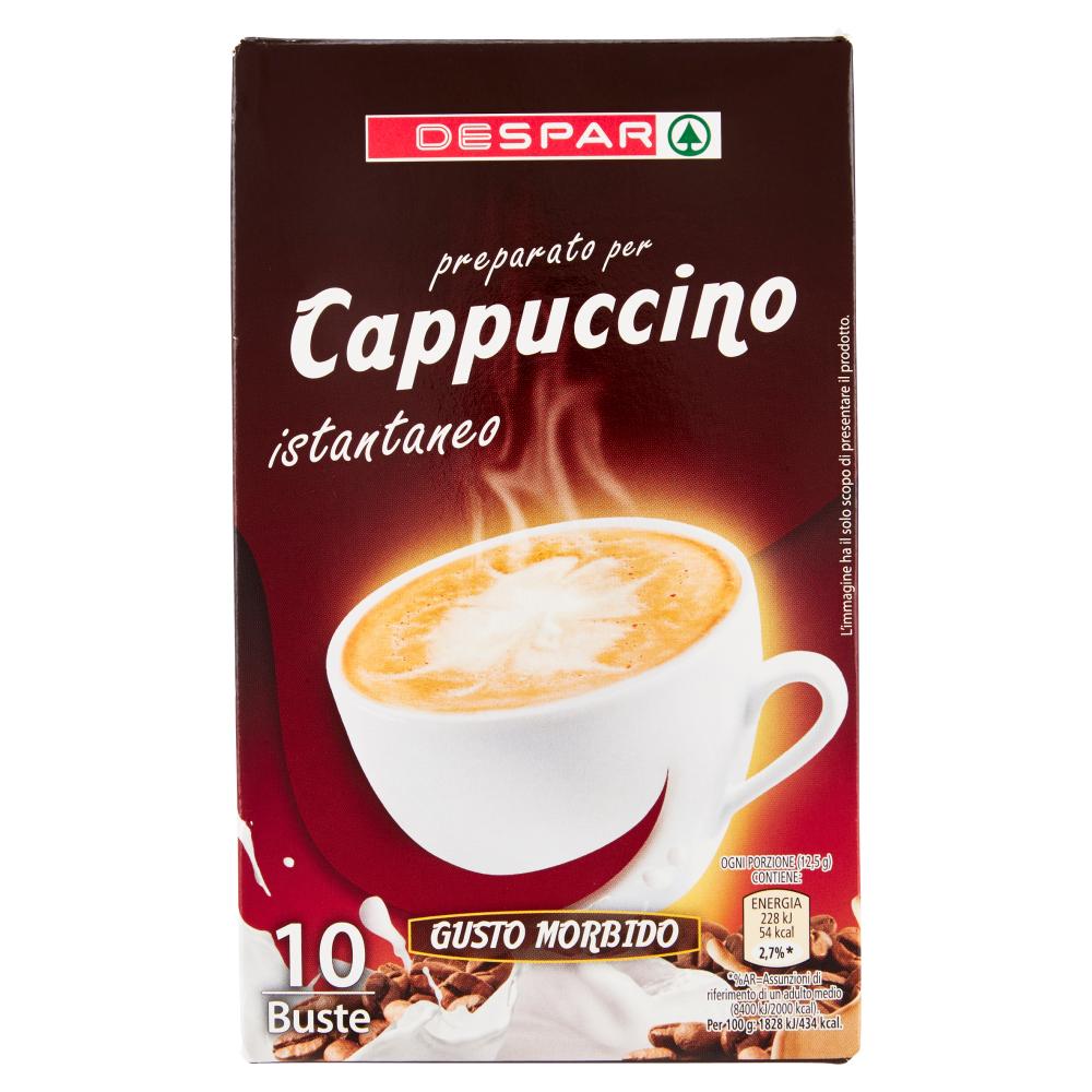 Despar preparato per Cappuccino istantaneo 10 x 12,5 g