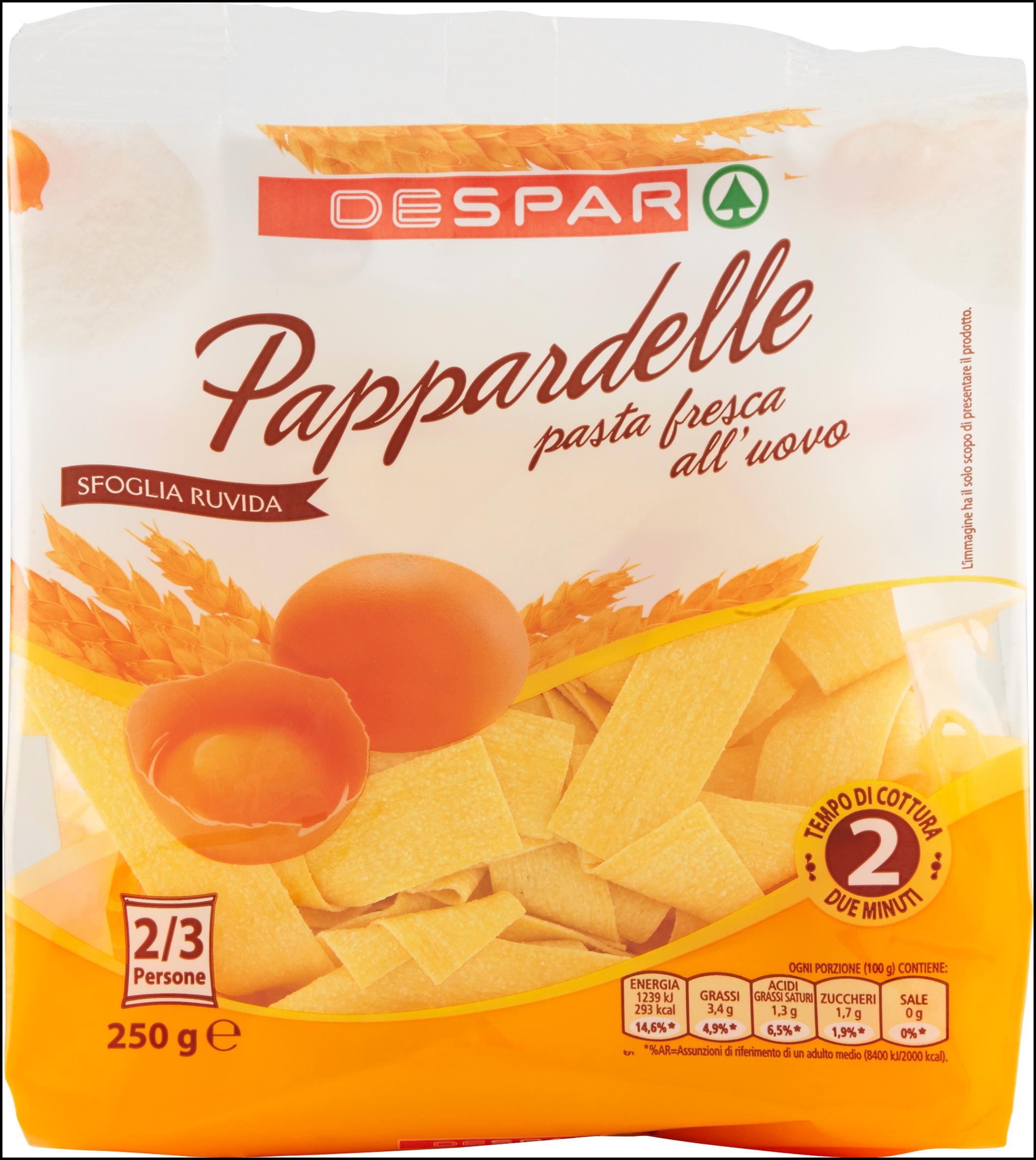 PAPPARDELLE FRESCHE UOVO DESPAR 250G